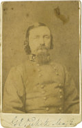 Military & Patriotic:Civil War, The Only Known George E. Pickett Signed CDV in a General's Uniform! The lower margin of this excessively rare carte de vis...