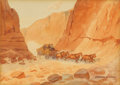 Texas:Early Texas Art - Regionalists, LEONARD REEDY (1899-1956). In the Canyon. Watercolor. 8in. x11in.. Signed lower right. Titled lower left on mat. Leon...