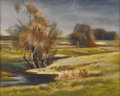 Texas:Early Texas Art - Regionalists, JERRY BYWATERS (1906-1989). Pasture in Autumn. Pastel (FrankReaugh method). 10in. x 13in.. Signed lower right. Titled l...