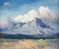 Texas:Early Texas Art - Regionalists, EUGENE THURSTON (1896-1993). Tip of the Guadalupe Mts.-El PasoTexas, 1981. Oil on canvas. 24in. x 20in.. Signed and dat...