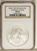Modern Issues: , 2006-P $1 Founding Father MS70 NGC. PCGS Population (115/0). (#21009)...