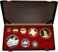 Albania, Albania: People's Socialist Republic Eight-Piece gold & silver Proof Set 1970 Cameo Proof,... (Total: 8 coins)