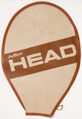 Miscellaneous Collectibles:General, Arthur Ashe Signed Tennis Racket Cover....