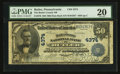 National Bank Notes:Pennsylvania, Butler, PA - $50 1902 Date Back Fr. 670 The Butler County NB Ch. #4374. ...