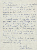 Football Collectibles:Others, Circa 1970 Jackie Robinson Handwritten, Signed Letter to Jerry Kramer....