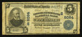 National Bank Notes:Virginia, Winchester, VA - $5 1902 Plain Back Fr. 608 The Farmers &Merchants NB Ch. # (S)6084. ...