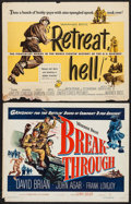 "Movie Posters:War, Breakthrough & Other Lot (Warner Brothers, 1950). Half Sheets (2) (22"" X 28""). War.. ... (Total: 2 Item)"