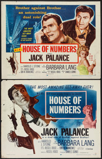 "House of Numbers (MGM, 1957). Half Sheets (2) (22"" X 28"") Styles A & B. Film Noir. ... (Total: 2 Items)"