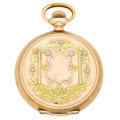 Timepieces:Pocket (post 1900), Elgin Multi-Color Gold Filled Hunter's Case Pocket Watch. ...