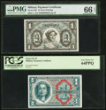 Military Payment Certificates:Series 611, Mixed $1 MPC Pair.. ... (Total: 2 notes)