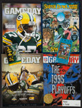 Football Collectibles:Others, Robert Brooks Signed Tape, Super Bowl XXXII Ticket Stub and 4 Green Bay Packers Programs....