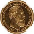 German States: Prussia. Friedrich III Proof gold 10 Mark 1888-A PR58 NGC