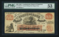 Confederate Notes:1861 Issues, XX-1/B1 $20 Female Riding Deer Bogus Note.. ...