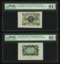Fractional Currency:Third Issue, Fr. 1238SP 5¢ Third Issue Wide Margin Green Back PMG Gem Uncirculated 65 EPQ. Fr. 1238SP 5¢ Third Issue Wide Margin Face P... (Total: 2 notes)