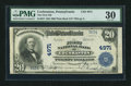 National Bank Notes:Pennsylvania, Cochranton, PA - $20 1902 Plain Back Fr. 657 The First NB Ch. #4971. ...