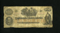 Confederate Notes:1862 Issues, CT41/ $100 1862. This is believed to be a counterfeit due toCalhoun's facial features. An approximate one and a fourth inch...