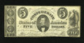 Confederate Notes:1861 Issues, T34 $5 1861. This $5 is crispy with sound edges. Fine....