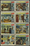 "Movie Posters:Horror, The Mummy (Universal International, 1959). Lobby Card Set of 8 (11""X 14""). Horror. ... (Total: 8 Items)"
