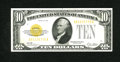 Small Size:Gold Certificates, Fr. 2400 $10 1928 Gold Certificate. Very Fine. The orange third printing qualities are that of a higher grade....
