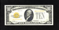 Small Size:Gold Certificates, Fr. 2400 $10 1928 Gold Certificate. Very Fine. Bright paper and nice orange ink give this $10 Gold the appearance of a highe...