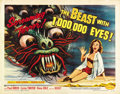 "Movie Posters:Science Fiction, The Beast with 1,000,000 Eyes! (American Releasing Corp., 1955).Half Sheet (22"" X 28"")..."