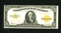 Large Size:Gold Certificates, Fr. 1173 $10 1922 Gold Certificate Very Fine. Great color for a mid-grade $10 Gold is found on this note.....