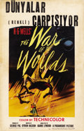 "Movie Posters:Science Fiction, The War of the Worlds (Paramount, 1953). Window Card (14"" X22"")...."