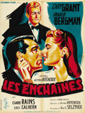 "Movie Posters:Hitchcock, Notorious (RKO, R-1954). French Petite (23.5"" X 31.5""). ..."
