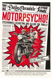"Motor Psycho! (Eve Productions, 1965). One Sheet (27"" X 41"")"