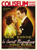 "Movie Posters:Drama, Magnificent Obsession (Universal, 1935). Pre-War Belgian (24.5"" X33.25""). ..."