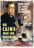 "Movie Posters:War, The Caine Mutiny (Columbia, 1954). German A1 (23"" X 33""). ..."