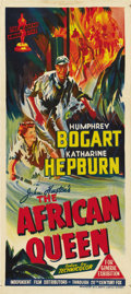 "Movie Posters:Adventure, The African Queen (United Artists, 1952). Australian Daybill (13.5""X 30""). ..."