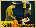 """Movie Posters:Crime, The Sin of Nora Moran (Majestic Pictures, 1933). Lobby Cards (4)(11"""" X 14"""") and Glass Slide. ... (Total: 5 Items)"""