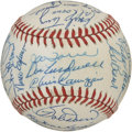 Autographs:Baseballs, 1986 New York Mets Old Timers Multi-Signed Baseball. The 34signatures that appear on the ONL (Feeney) ball seen here were a...