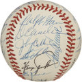 Autographs:Baseballs, 1988 New York Mets Old Timers Day Baseball. Tremendous collectionof former baseball stars appear on the surface of this cl...