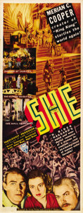 "Movie Posters:Fantasy, She (RKO, 1935). Insert (14"" X 36""). ..."
