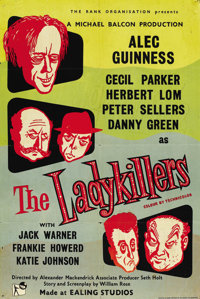 """The Ladykillers (Ealing, 1955). British One Sheet (27"""" X 40"""")"""