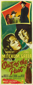 "Movie Posters:Film Noir, Out of the Past (RKO, 1947). Insert (14"" X 36""). ..."