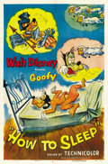 "Movie Posters:Animated, How to Sleep (RKO, 1953). One Sheet (27"" X 41""). ..."