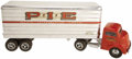 Antiques:Toys, 1950s Smith Miller Pacific Intermountain Express (P. I. E.) Semi Truck with Trailer....