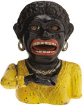 "Antiques:Black Americana, ""Dinah"" Long Sleeved Cast Iron Mechanical Bank..."