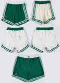 Basketball Collectibles:Uniforms, Boston Celtics Game Worn, Signed Shorts Lot of 5....
