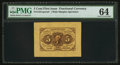 Fractional Currency:First Issue, Fr. 1231SP 5¢ First Issue Wide Margin Face PMG Choice Uncirculated 64.. ...