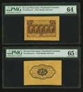 Fractional Currency:First Issue, Fr. 1282SP 25¢ First Issue Wide Margin Face PMG Choice Uncirculated 64. Fr. 1282SP 25¢ First Issue Wide Margin Back PMG Ge... (Total: 2 notes)