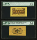 Fractional Currency:First Issue, Fr. 1282SP 25¢ First Issue Wide Margin Pair PMG Choice Uncirculated 64.. ... (Total: 2 notes)
