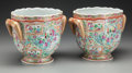 Asian:Chinese, A Pair of Chinese Export Porcelain Wine Coolers, late 19th century.7-1/4 inches high x 9 inches wide x 6-3/4 inches deep (1... (Total:2 Items)