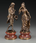 Sculpture, After Karl Sterrer (Austrian, 1844-1918). A Pair of Figural Bronzes. Bronze with brown patina, each. 10 inches (25.4 cm)... (Total: 2 Items)