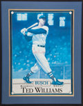 Baseball Collectibles:Photos, Ted Williams Signed Print....
