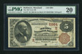 National Bank Notes:Maryland, Baltimore, MD - $5 1882 Brown Back Fr. 477 The Old Town NB Ch. #(E)5984. ...