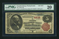 National Bank Notes:Pennsylvania, Chambersburg, PA - $5 1882 Brown Back Fr. 471 The Valley NB Ch. # 4272. ...